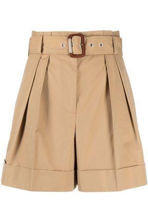 Alexander McQueen Shorts con cintura paperbag