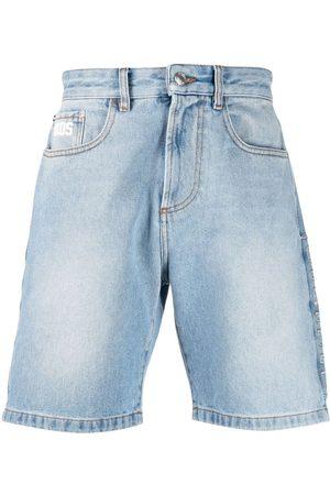 GCDS Shorts de mezclilla con parche del logo
