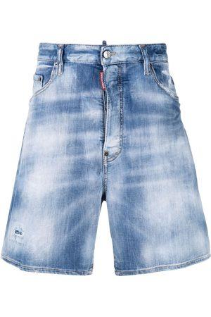 Dsquared2 Shorts de mezclilla con efecto envejecido