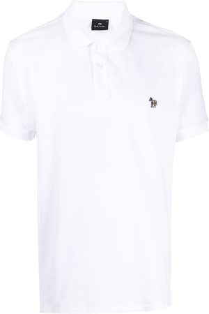 Paul Smith Playera tipo polo con parche de cebra