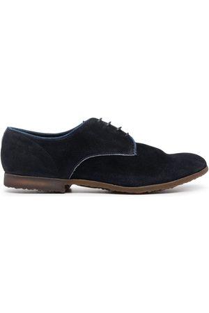Premiata Zapatos derby de gamuza con paneles