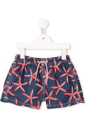 MC2 SAINT BARTH Shorts de playa con estampado de estrellas de mar