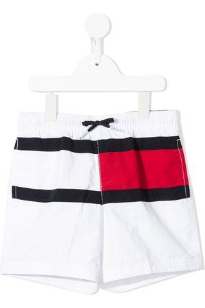 Tommy Hilfiger Shorts de playa con cordones en la pretina