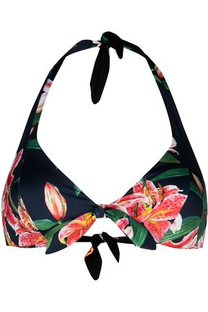 MC2 SAINT BARTH Top de bikini con lirios estampado