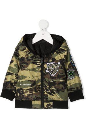 Givenchy Chamarra con capucha y estampado militar