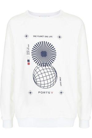 Ports V Sudadera con eslogan ONE PLANET ONE LIFE