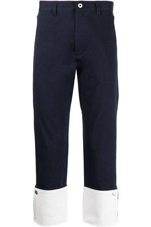 Ports V Pantalones chino con dobladillo en contraste