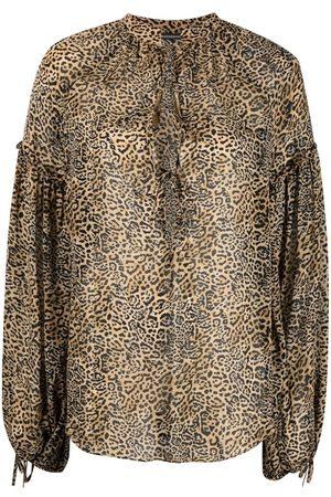 WANDERING Blusa con estampado de leopardo