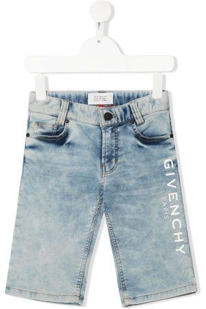 Givenchy Shorts de mezclilla con logo estampado