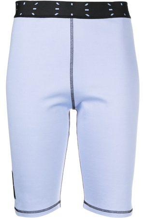 McQ Shorts de ciclismo con detalle de costuras