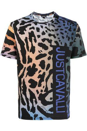 Roberto Cavalli Playera con estampado de leopardo