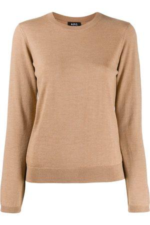 A.P.C. Suéter de canalé con cuello redondo