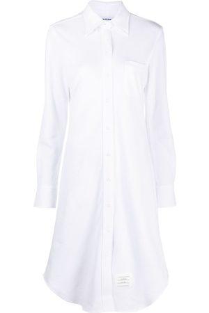 Thom Browne Vestido camisero de piqué