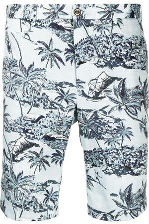PT01 Shorts con palmeras estampadas