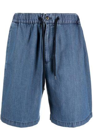 PT01 Shorts de mezclilla con cordones en la pretina