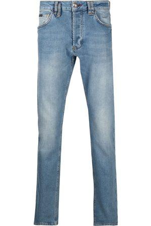 Philipp Plein Jeans con placa del logo
