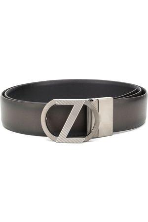 Z Zegna Cinturón con placa del logo