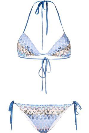 Missoni Bikini tejido con motivo