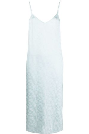 Palm Angels Slip dress con monograma estampado