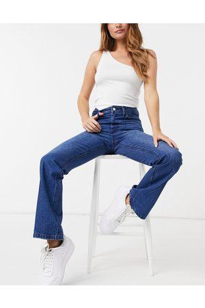 Femme Luxe High waist slim flares in blue