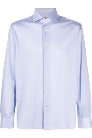 corneliani Camisa con dobladillo redondeado