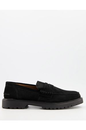 H by Hudson Radcliff chunky loafers in black suede