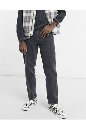 ASOS Hombre Rectos - High waisted jeans in washed black