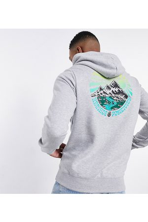 Element Hombre Con capucha - Balmore back print hoodie in grey Exclusive at ASOS