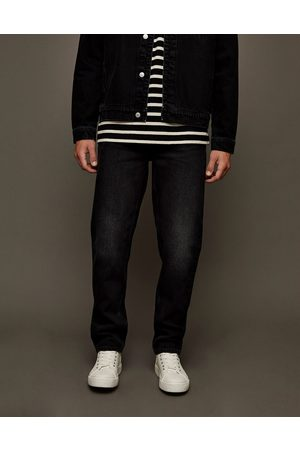 Topman Straight jeans in washed black