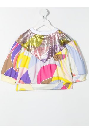 Emilio Pucci Top con estampado abstracto y lentejuelas