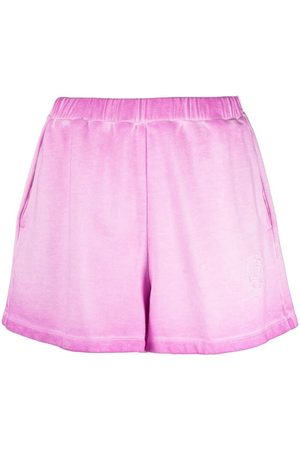 Opening Ceremony Rose-crest faded sweat-shorts