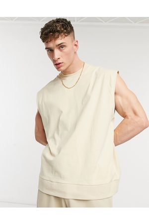 ASOS Hombre Chalecos - Oversized vest with chunky rib hem in