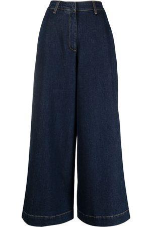L'Autre Chose Jeans anchos con tiro alto