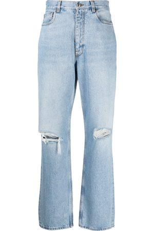 Etro Jeans rectos con rodillas rasgadas