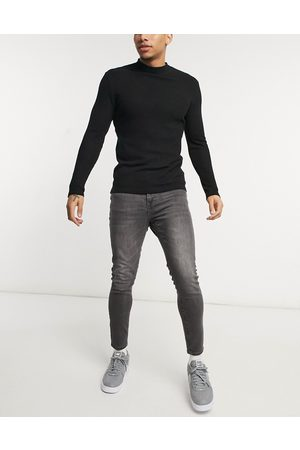 New Look Hombre Skinny - Skinny jeans in washed grey
