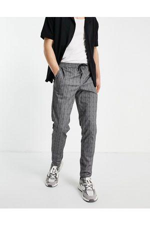 Jack & Jones Hombre Chinos - Intelligence drawstring waist trouser in grey check
