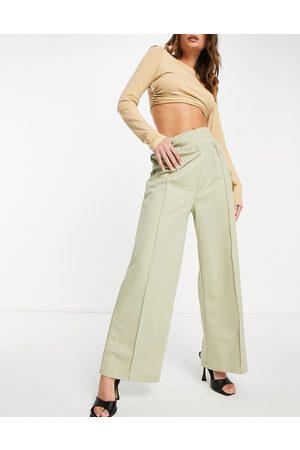 Public Desire Seam front wide leg trouser in sage