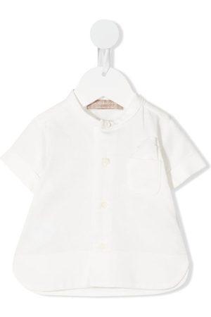 LA STUPENDERIA Camisa con bolsillo de parche en el pecho