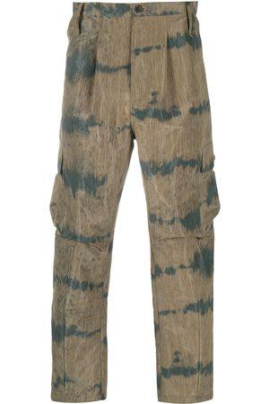 HENRIK VIBSKOV Pantalones cargo con diseño de dos tonos