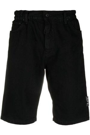 OFF-WHITE Shorts de mezclilla con logo
