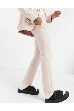 ASOS Hombre Slim y skinny - Wedding skinny suit trousers in rose pink