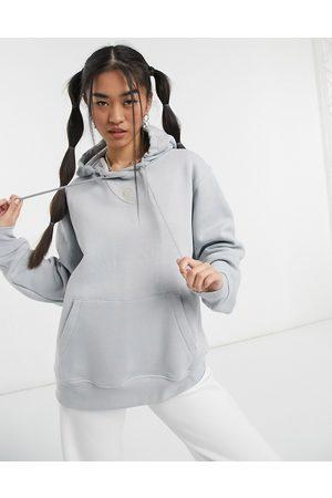 Nike Swoosh hoodie in dark grey neutrals
