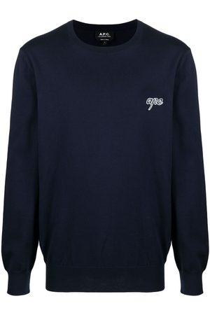 A.P.C. Suéter con cuello redondo y logo