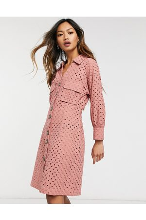 Native Youth Mujer Casuales - Broderie button through dress