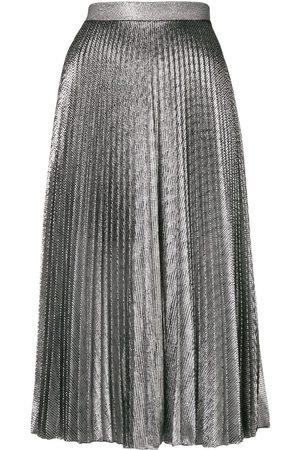 Christopher Kane Mujer Plisadas - Falda de lamé plisada