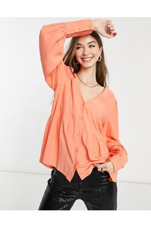 Y.A.S Mujer Blusas - Smock blouse with v