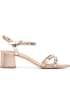Ash Mujer Sandalias - Metallic-effect leather sandals