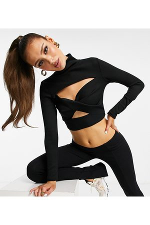 AsYou Twist long sleeve top in black co