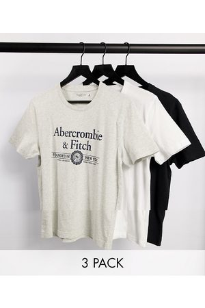 Abercrombie & Fitch 3 pack large front logo t