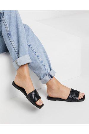 Raid Eleah plaited flat sandals in black